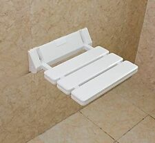 Wall-mounted seat Foldable Chair Seating Shower Bath Drop-leaf Stool, -White