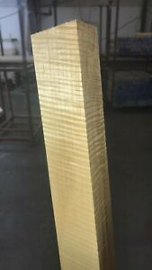 """*PREMIUM* 1-3/4"""" x 1-3/4"""" x 36"""" Curly HARD Maple Wood Square S4S Pool Cue Blanks"""