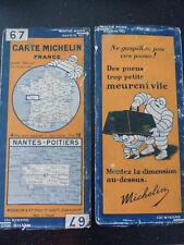 Carte michelin 67 nantes poitiers 1929