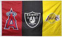 Las Vegas Okland Raiders & Los Angeles Angels & LA Lakers flag 3x5 feet banner