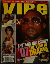 Vibe Magazine January 2008 The Tabloid Issue Kanye West Rihanna Jay-Z Beyonce TI