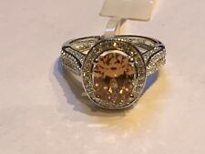 925 Silver Cz Ring Size L