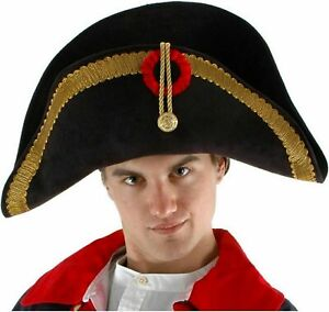 NEW Elope Deluxe Napoleon Admiral Army Captain Pirate Hat Great Quality