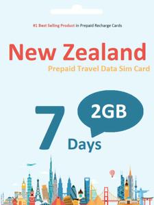New Zealand Travel - 7 days 2GB Vodafone NZ prepaid data SIM card 4G/LTE