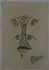 Pencil drawing signed PICASSO