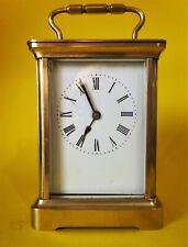ACG Vintage English 8 day carriage clock. Damaged in transit. Not working.