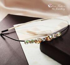 18K White Gold Plated Made With Swarovski Crystal Teardrop Hair Hoop Headband
