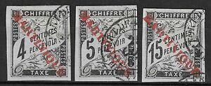 COLONIES FRANCAISES - Martinique - Lot de 3 timbres - 1891-1892