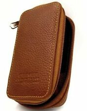 Parker Genuine Leather Zippered Safety Razor & Double Edge Blade Travel Case Lp4