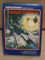 Space Armada #3759 Intellivision Video Game Complete in Box W/Manual & inlays VG