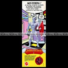 Mattel GUERRES SECRETES SECRET WARS Iceberg 1986 Marvel Pub Publicité Ad #C139