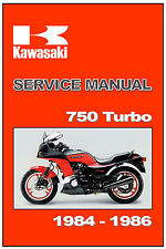 KAWASAKI Workshop Manual ZX750E GPz750 750 Turbo 1984 1985 1986 Service Repair