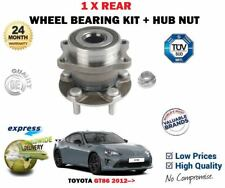 FOR TOYOTA GT86 2.0 COUPE FA20 2012-> NEW 1X REAR WHEEL BEARING KIT + HUB NUT