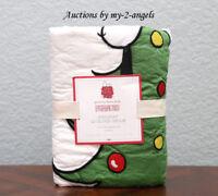 NEW Pottery Barn Kids PEANUTS HOLIDAY Quilt-ed Euro Sham *Snoopy Christmas Tree