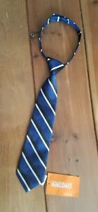 New Gymboree Blue Striped Toddler Boys Tie Size 2t-5t