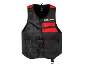 New 2X-Large SEA-DOO MEN'S FREEDOM LIFE JACKET - THE ATHLETIC - RED