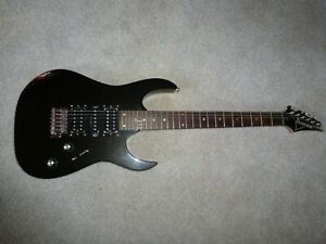 ibanez rg black is back ! new paint , Totally gone through solid player !!