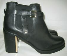 Topshop black leather, strong and durable smart casual ankle boots size 6