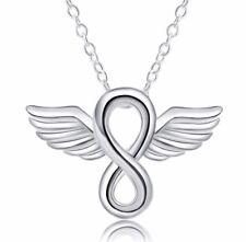 063 Damen Halskette mit Anhänger Schutzengel 925 Silber Pl NEU