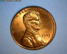 1983 LINCOLN CENT, DIE BREAK, OBV. CUD, MISALIGN DIE, GAS BUBBLES US ERROR COIN