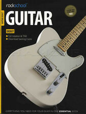 Rockschool chitarra debutto Grade 2012-2018 Scheda Libro & ONLINE AUDIO test esame CANZONI