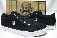 Fila Men's Original Canvas Casual Shoes - Black/White - 1VB045CC-014