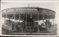 Amusement Park Ride Hibbert's Venetian Gondolas Real Photo Postcard