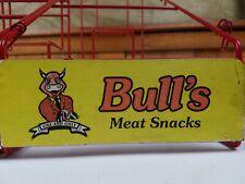 Vintage Bull's Meat Snacks Advertising Jerky Display rack stand