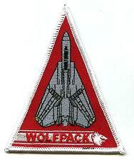US NAVYAL AVIATION F-14 TOMCAT SQN SSI SHOULDER SLEEVE INSIGNIA: VF-1 WOLFPACK