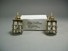 Rotary Switch Potentiometer 2 Pole 170233-F2X Free Shipping - NOS - Lot of 2 pcs