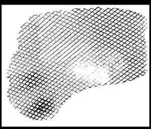 Fish Net Grunge Background Unmounted Rubber Stamp