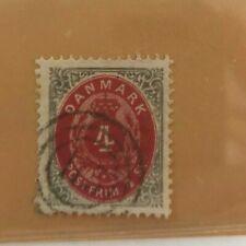 stamp Denmark Danmark 1870 3 ring tofarvet 115 = Eutin Schleswig 4Sk