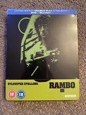 Rambo III UK Region B Blu-ray Steelbook New