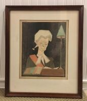 """Antique 1925 Framed Lithograph by Edmond Xavier Kapp """"The Hon. Mr Justice Avory"""""""