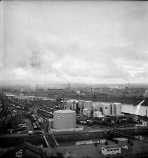SUISSE c. 1950 - Trains Raffinerie Port Fluvial Bâle - Négatif 6 x 6 - Sui 11