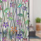Blumen Fensterfolie Sichtschutzfolie Fenster Glasdekorfolie Selbstklebend Deko