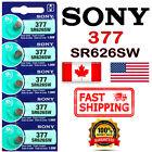 5X SONY 377, SR626SW, Silver Oxide Watch Battery 1.55V, SR66, AG4, Exp. 2028