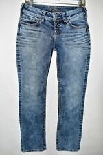 Silver Suki Straight Leg Womens Jeans Size 8P Regular Blue Meas. 28x28.5