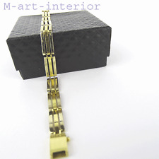 Edler Armband 585 / 14 Karat Weiß / Gelb Gold Bracelet 20,5 cm, Wert 2.250,- €