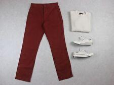 MHL Margaret Howell-Fatiga Pantalones-rojo-pequeño
