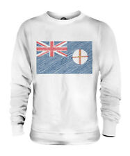 NEW SOUTH WALES SCRIBBLE FLAG UNISEX SWEATER  TOP GIFT WELSH FOOTBALL