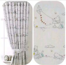 "BLACKOUT Unisex Winnie The Pooh bear🐻Toddler Lined Nursery  Curtains 66""x55""D"