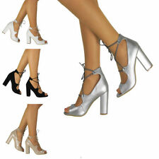 Block Party Patternless Synthetic Heels for Women
