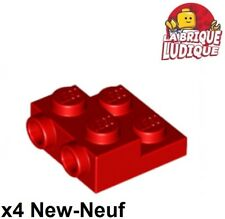 Lego - x4 Plate Modified 2x2 x2/3 with 2 Studs rouge/red 99206 NEUF