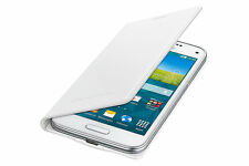 Samsung Galaxy S5 Mini WHITE Flip Case GENUINE EF-FG800BWEG Retail Box 24Hr Post
