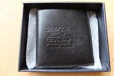 Ralph Lauren Deerfield vachetta Leather Bifold Wallet Black made in Italy