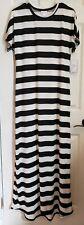 LuLaRoe Black White Thick Stripes Medium Maria Dress Striped Pattern Mix NEW!