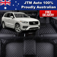 Custom Made Leather Floor Mats Front + Rear to suit Volvo XC90 2014-2019