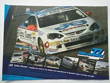 Mike Jordan Unsigned Touring Cars Poster.