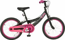 Eclipse 18 Inch Wheel 10 Inch Steel Frame Bike BMX Style Tyres Girls Pink/Black